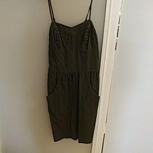 Mossimo Army Green Spaghetti Strap Dress XS